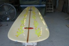 1.Traditional Longboards Used As Table Top
