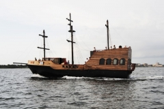 """The """"GOOD FORTUNE"""" Pirate Ship Project on her Maiden Voyage. Once again, Pirates roam the waters of Pensacola FL."""
